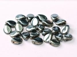 Pip Beads 5 x 7 mm Jet Chrome (per 12)