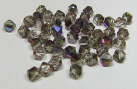 Glass Bicones 4 mm Crystal Sliperit (per 50)