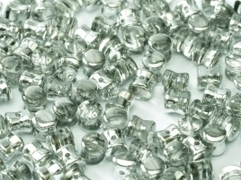 Diabolo Beads 4 x 6 mm Crystal Labrador (per 40)