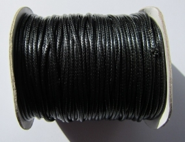 Waxed Cord 2 mm Black W033 (1 meter)