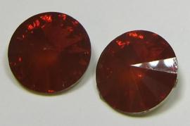 Resin Rivoli 16 mm Rust Orange Opal (per 2)