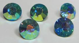 Glass Chaton SS39 Aquamarine AB (per 5)