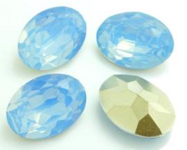Resin Oval 10 x 14 mm Grey Sapphire Opal (per 3)