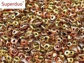 Superduo Bead Jet California Pink (10 g.)