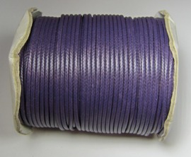 Waxed Cord 2 mm Dark Purple W141 (1 meter)