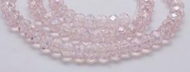 Facet Rondel 3 x 4 mm Light Pink AB F916 (per 148 kralen)