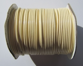 Waxed Cord 2 mm Cream W027 (1 meter)