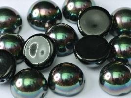 Dome Beads 10 x 6 mm Jet Apricot Medium (per 5)