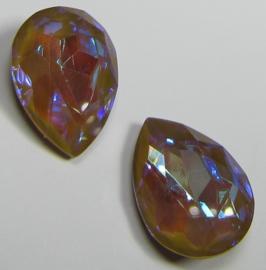 Glass Drop 13 x 18 mm Crystal Sand DeLite (per 1)