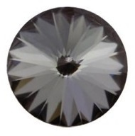 Swarovski Rivoli SS39 8 mm Crystal Silver Night (per 5)
