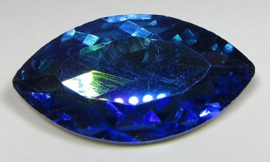 Glas Navette 17 x 32 mm Blue Purple Plated (per stuk)