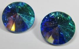 Glass Rivoli 12 mm Aqua AB (per 2)