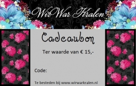 Gift Voucher €15,- (PDF or Printed)