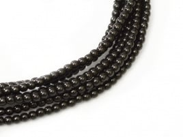 Glass Pearls Black 6 mm (28 cm strand)