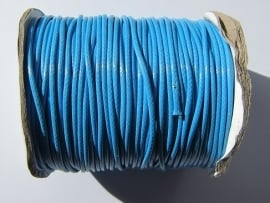 Waxed Cord 2 mm Deep Sky Blue W017 (1 meter)