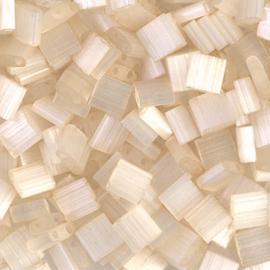 TL-2592 Antique Ivory Silk Satin Miyuki Tila Bead (per 5 gram)