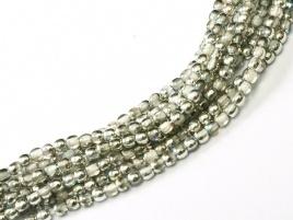 Druk Beads Crystal Silver Rainbow 2 mm (30 cm strand)