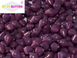 Spiky Button 4,5 x 6,5 mm Chalk White Lila Vega Luster (per 25)