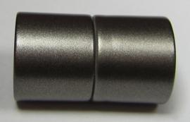 Magnetic Clasp Acrylic Mat Granite 26 x 15 mm Hole 12 mm S938 (per 1)
