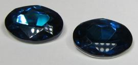 Glas Ovaal 13 x 18 mm Petrol (per stuk)