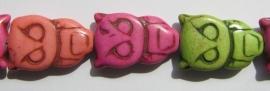 Howliet Multicolor Uiltjes E1657 (per streng)