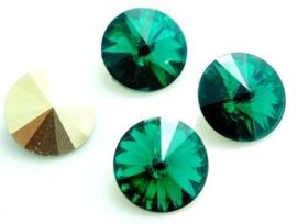 Resin Rivoli 16 mm Emerald (per 2)