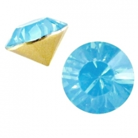 Resin Chaton SS29 Light Blue Pacific Opal (per 10)