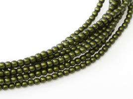 Glasparel Matted Olive Satin 3 mm (per 44 cm streng)