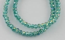 Faceted Rondelles 2 x 2,5 mm Emerald AB F1298 (per 198 beads)