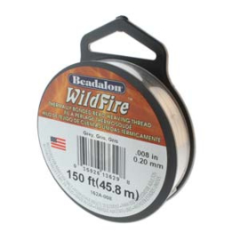 "Beadalon Wildfire Grey (0.008"") 0,20 mm (per rol van 45 meter)"