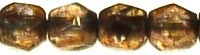 Fire Polished 3 mm Luster - Transparent Gold/Sm.Topaz (per 75)