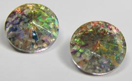 Glass Rivoli 14 mm Crystal Rainbow Patina (per 1)
