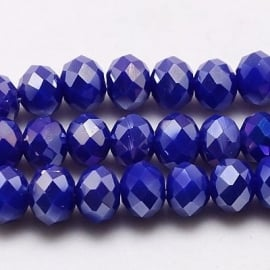 Faceted Rondelles 2 x 3 mm Opaque Cobalt AB F451 (per 138 beads)
