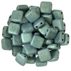 CzechMates Tiles Metallic Suede - Lt. Green (per 10)