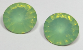 Resin Rivoli 14 mm Chrysolite Green Opal (per 2)