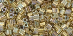 TG-11-262 Inside-Color Crystal/Gold Lined (per 10 gram)