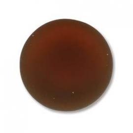 Lunasoft Cabochon Munt 18 mm Copper (per stuk)