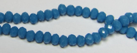 Faceted Rondelles 2 x 3 mm Opaque Capri Blue F1171 (per 148 beads)