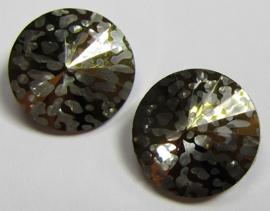 Glass Rivoli 14 mm Crystal Gold Patina (per 1)