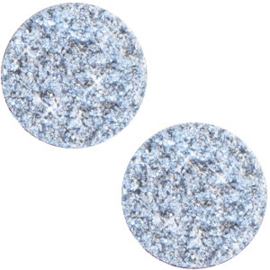 Polaris Cabochon Munt Plat 20 mm Goldstein Light Sapphire Blue (per stuk)