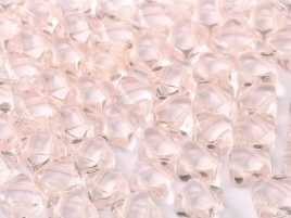Silky Beads 2-Hole 6 x 6 mm Rosaline (per 22)