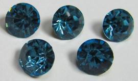 Glass Chaton SS39 Dark Aqua (per 5)