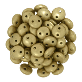 CzechMates Lentils Matte Metallic Flax (per 36)