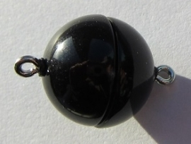 Magnetic Clasp Acrylic Shiny Black 15 mm S508 (per 1)