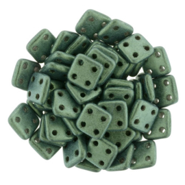 CzechMates QuadraTiles Metallic Suede - Lt. Green (per 5 gram)