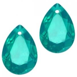 Resin Drop Pendant 10 x 14 mm Emerald Green (per 2)