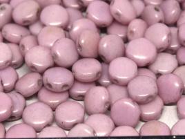 DiscDuo Beads 6 x 4 mm Chalk White Lila Luster (per 25)