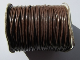 Waxed Cord 2 mm Coconut Brown W031 (1 meter)