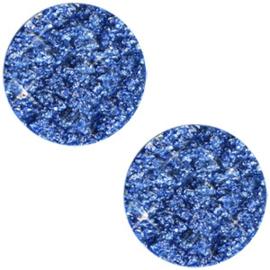 Polaris Cabochon Coin Flat 20 mm Goldstein Cobalt Sapphire Blue (per 1)