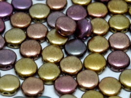 DiscDuo Beads 6 x 4 mm Ancient Gold (per 25)